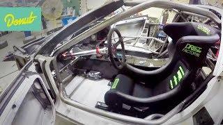 Drift Corvette Build - EP3: Installing Steering Column & Fire Suppression | Donut Media