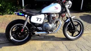 honda cm400 cafe racer sound custom