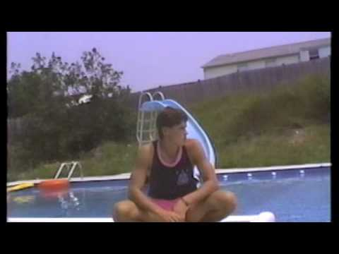 Hanging out by the pool, West Warwick, RI July 1989