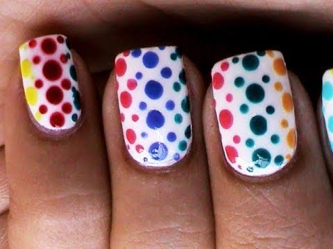 Dotting Nail Art Designs For Beginners Cute Polka Dot Nails