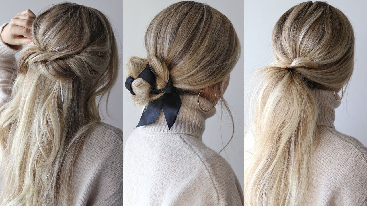 EASY HAIRSTYLES PERFECT FOR FALL, AUTUMN - YouTube