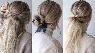EASY HAIRSTYLES PERFECT FOR FALL, AUTUMN