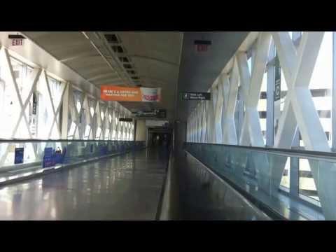 Moving Sidewalk At Boston's Logan International Airport