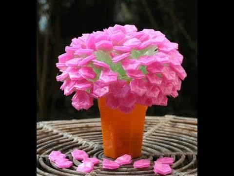 Kerajinan Bunga Sakura Dari Plastik - YouTube 20eea8249f
