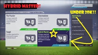 FIFA 18 - ULTIMATE TEAM | 'HYBRID MASTER' SQUAD BUILDER CHALLENGE! CRAZY CHEAP AND EASIEST WAY!