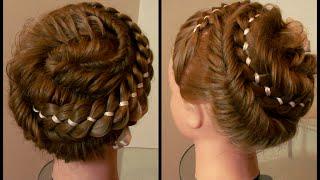 Причёска из кос  Хитросплетения. Видео-урок.
