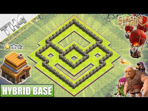 NEW BEST Town Hall 4 (TH4) Base With REPLAY - Clash Of Clans