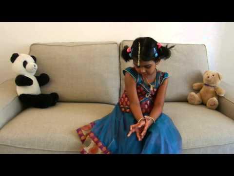 Maalae Tanusree 4 yrs girl Bhakti Slokas