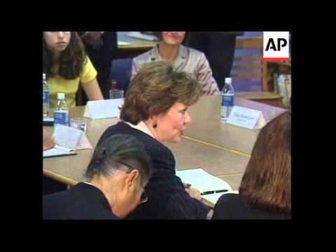 US: Mori: Japanese Prime Minister, Yoshiro Mori visit