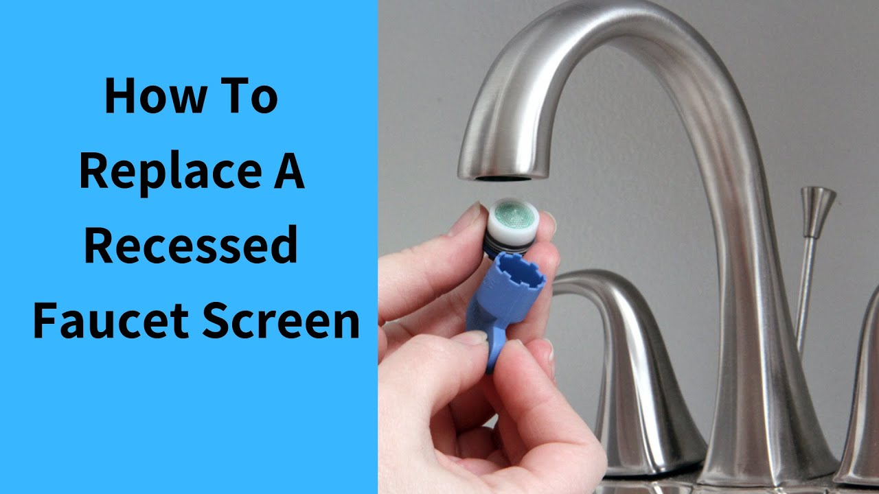 Replacment Of Recessed Neoperl Faucet Areators Youtube