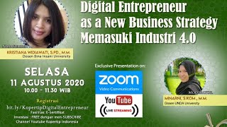 Digital Entrepreneur as a New Business Strategy Memasuki Industri 4.0