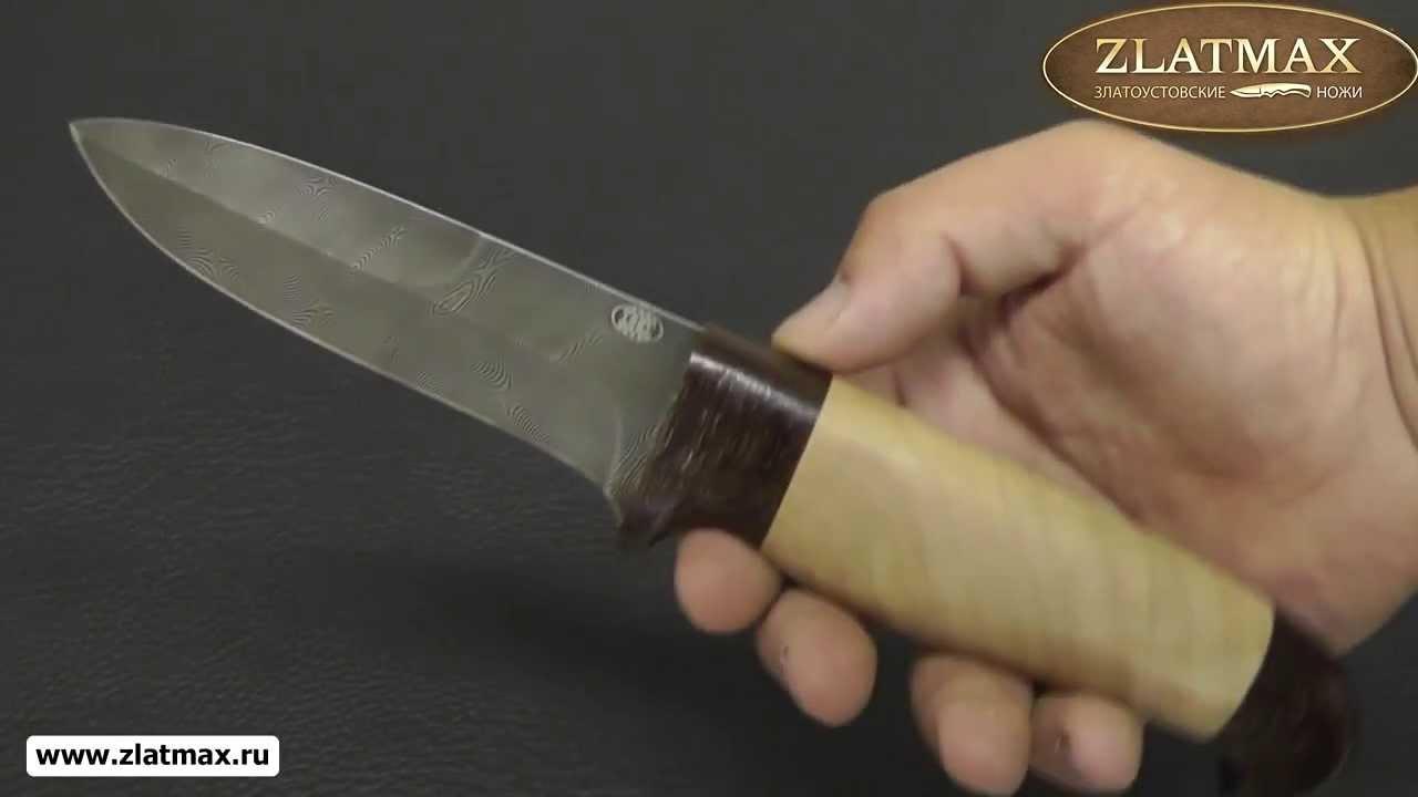 Видео Нож Н9 Чикаго (Дамаск У10А-7ХНМ, Орех, Текстолит)