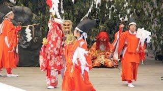 第24回阿蘇・神楽フェスティバル 波野中学校神楽クラブ『岩戸開』その1