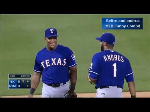 Funny Sports Moment : MLB Beltre and Andrus - Nice Funny Combi!