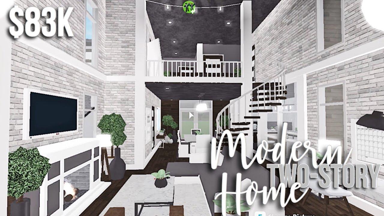 Modern Two Story Home Roblox Bloxburg Build