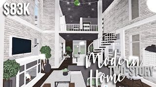 Modern two-story home   Roblox Bloxburg Build   GamingwithV