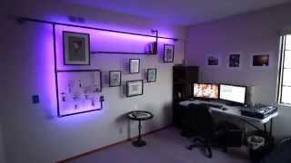 LED Pipe Bookshelf