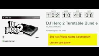 DJ Hero 2 Turntable Bundle PS3 Countdown