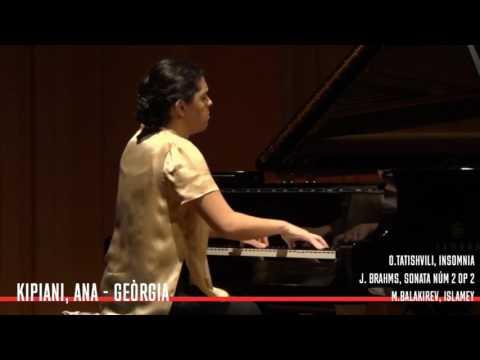 Brahms , sonata no 2 . playing- Ana Kipiani