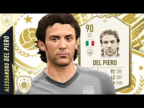 WORTH 20 SWAPS?!? 90 ICON DEL PIERO PLAYER REVIEW! FIFA 20 Ultimate Team ICON SWAPS 2