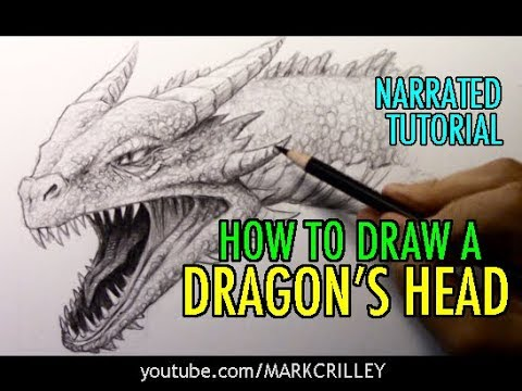 How to Draw a Dragon's Head: Narrated Tutorial
