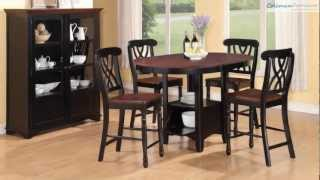 Addison Cherry Counter Height Bar Room Collection From Coaster Furniture