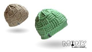 Mütze häkeln - Basketweave Beanie häkeln - Mütze im Korbmuster