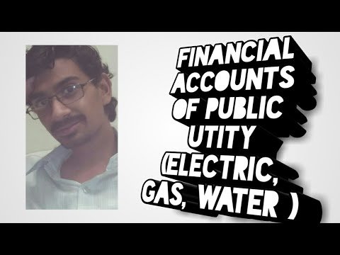 Financial account of public utility (electric,gas, water)
