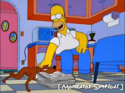 Los Simpsons - Méndigo perro malo y torpe!