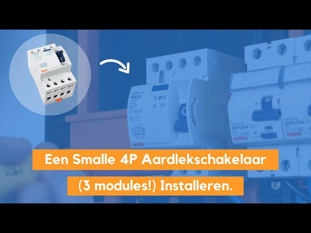 De Smalle 4 Polige Aardlekschakelaar Installeren Gewiss (3 modules) - ALS GW94897 Monteren