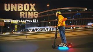 LEDINIS PASPIRTUKAS!   Ninebot by Segway ES4   Unbox Ring apžvalga