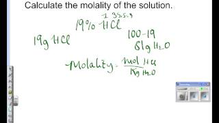 how to calculate molality from percent by mass