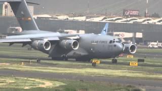Aterriza C17 Globemaster en MEXICO