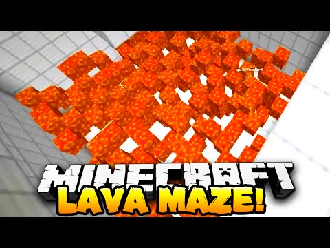 Minecraft - LAVA MAZE! (Puzzle Map) - Part 1 - w/ Preston, Nooch & Kenny