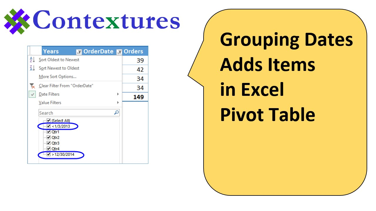 How to Group Excel Pivot Table Data
