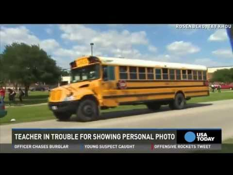 Teacher suspended after showing 'topless' photo