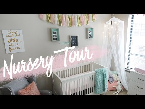 NURSERY TOUR | Baby Girl's Room + DIY Decor | RAVEN ELYSE