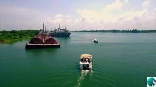 Tsarley Korpey Beach Resort Ada Ghana drone footage
