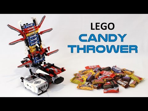 Lego Robot Hurls Candy at Trick-or-Treaters So You Don't Have To