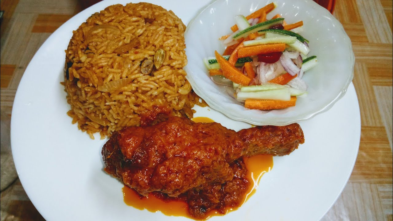 Nasi Tomato Ayam Masak Merah Lemak Acar Timun Dan Carrot 155 By Masak Apa Kita Youtube