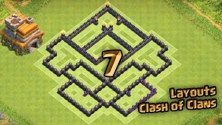 Layout Clash of Clans - Melhor Layout de Farm para Centro de Vila 7 - CV 7 - TH7 - [4]