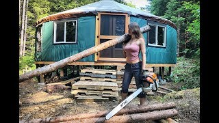 Turning a Tree Into Lumber Using an Alaskan Chainsaw Mill | Logs To Lumber Chainsaw Milling - Ep.34