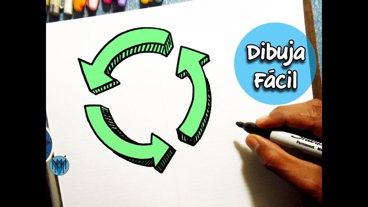 Cómo Dibujar El Simbolo De Reciclaje En 3d Fácil Dibustrador Art