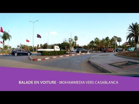 Balade voiture 🚘 Mohammedia vers casablanca  route des zenatas - maroc