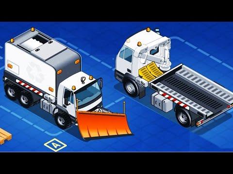 เกมส์ประกอบ รถดั้มการ์ตูน รถบรรทุก รถดั้ม6ล้อ รถดั้ม10ล้อ เกมส์รถ Excavator Kids