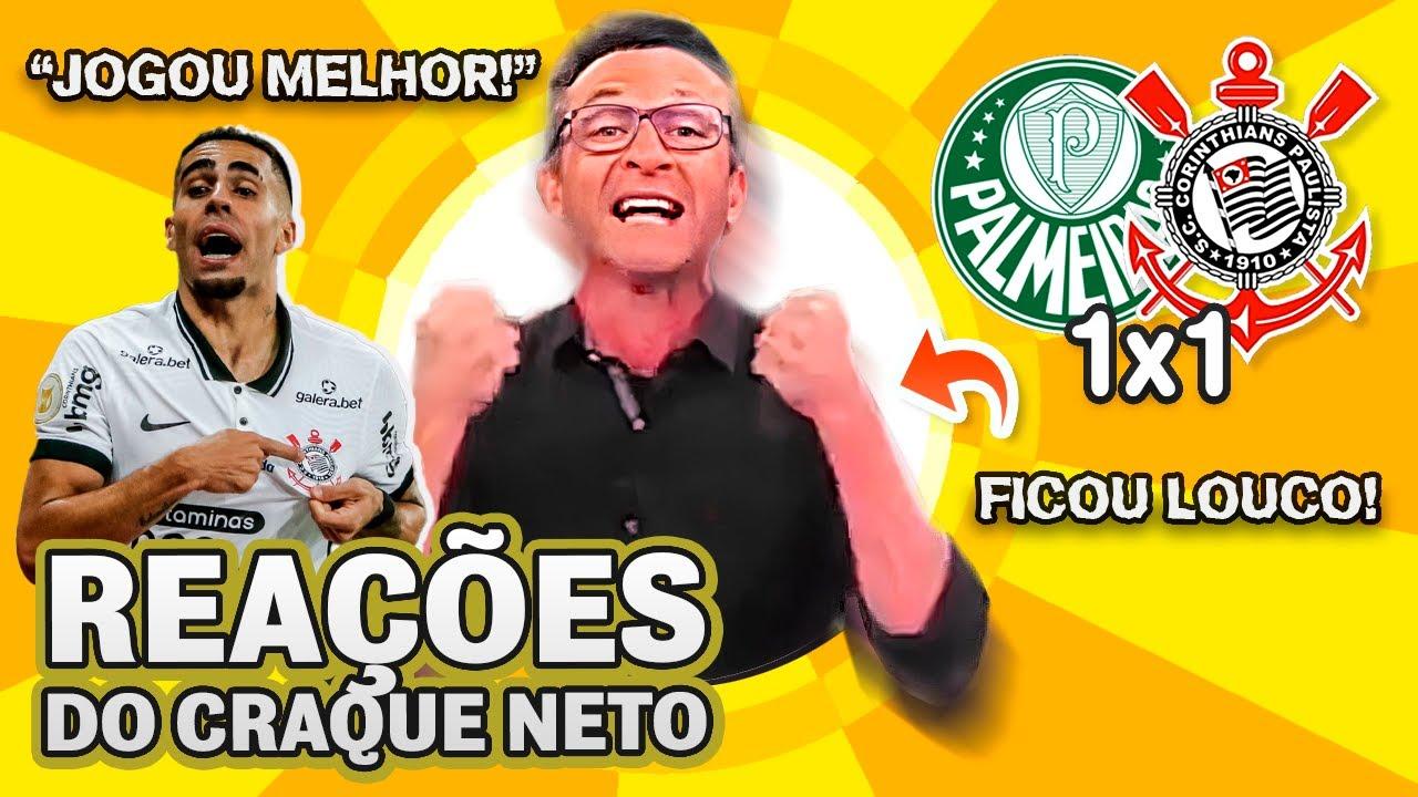 OLHA como o Craque Neto reagiu a Palmeiras 1x1 Corinthians no Brasileirão