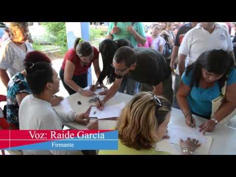 Primer día de recolección de firmas en Carirubana con gran participación