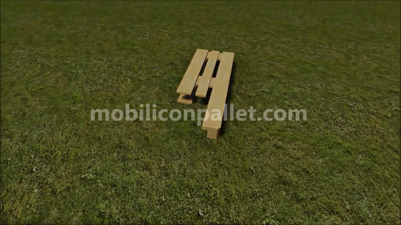 Le istruzioni su come fare uno sgabello con i pallet youtube