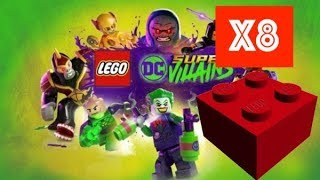 Lego DC Super Villains - Red Brick Studs x8 Multiplyer Location