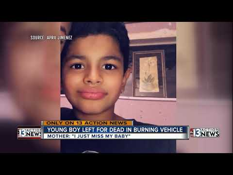 Mother of boy left for dead in burning vehicle speaks out